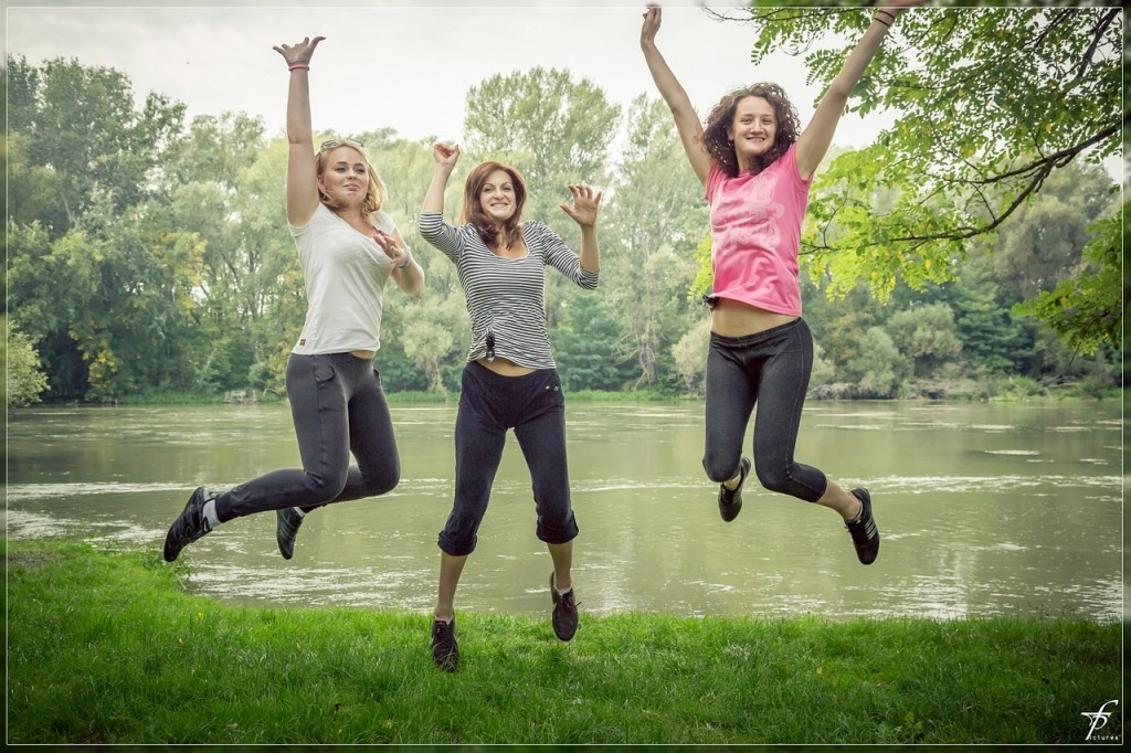 People happily jumping better mental health